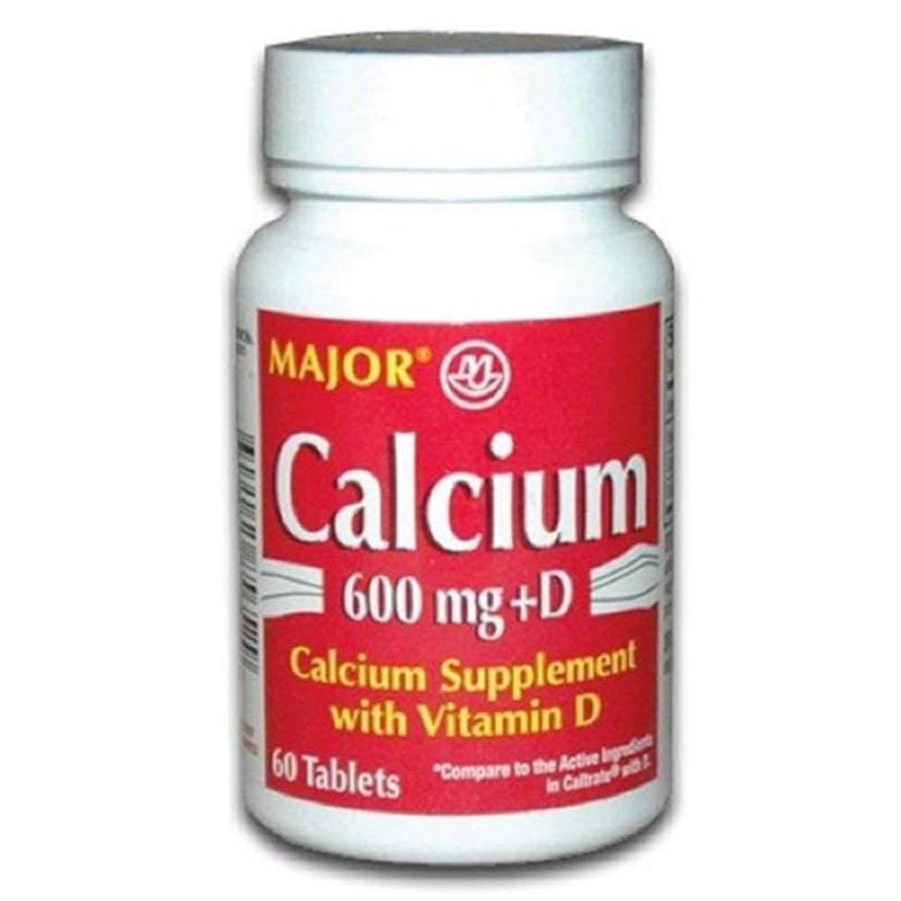 Major Calcium Supplement With Vitamin D3 - 600Mg, 60 Tablets