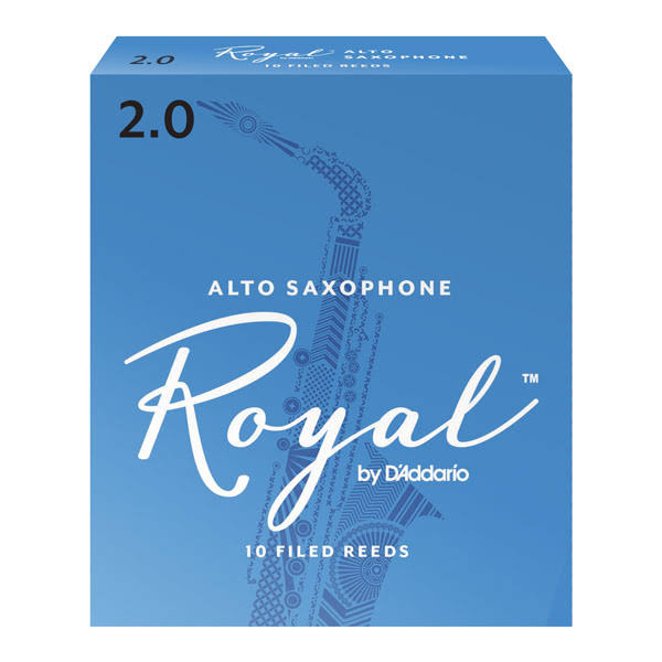 Rico Royal Alto Sax Reeds - Strength 2, 10 Pack