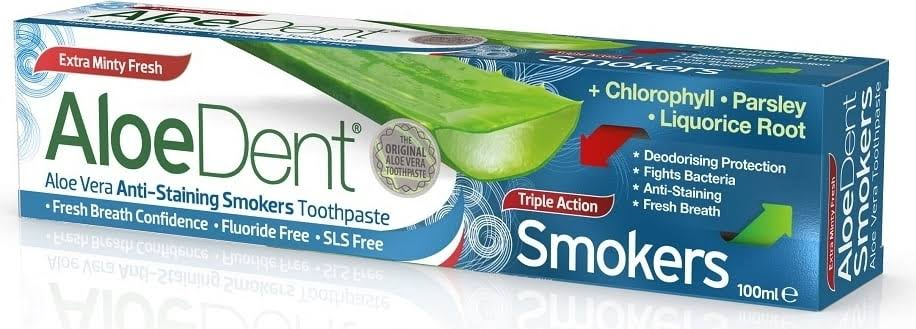 Optima Aloe Dent Triple Action Smokers Toothpaste - 100ml