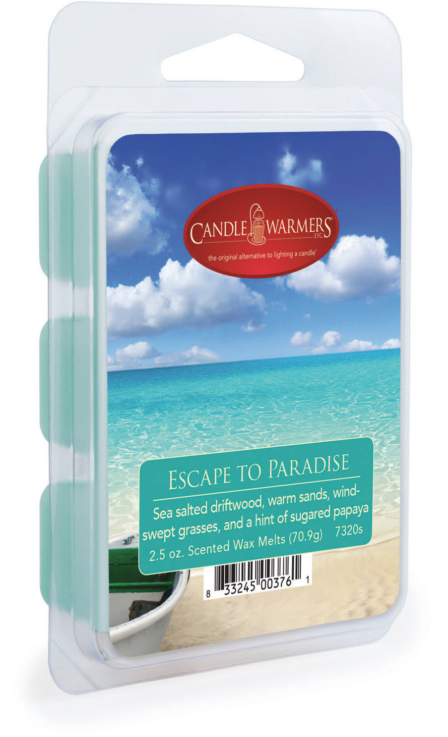 Candle Warmers Etc Wax Melts, Scented, Escape to Paradise - 2.5 oz