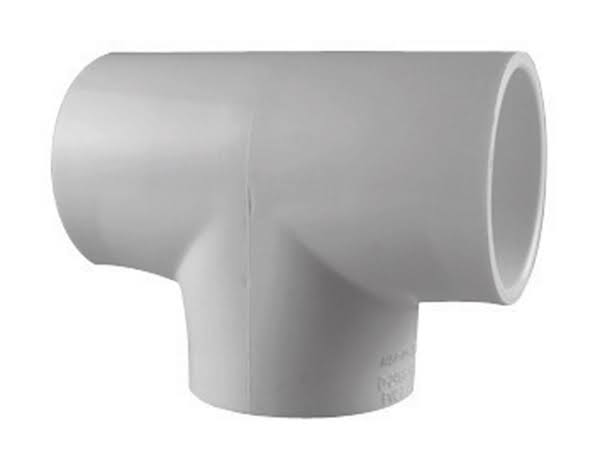 Charlotte Schedule 40 PVC Pipe Tee - White, 1-1/2in