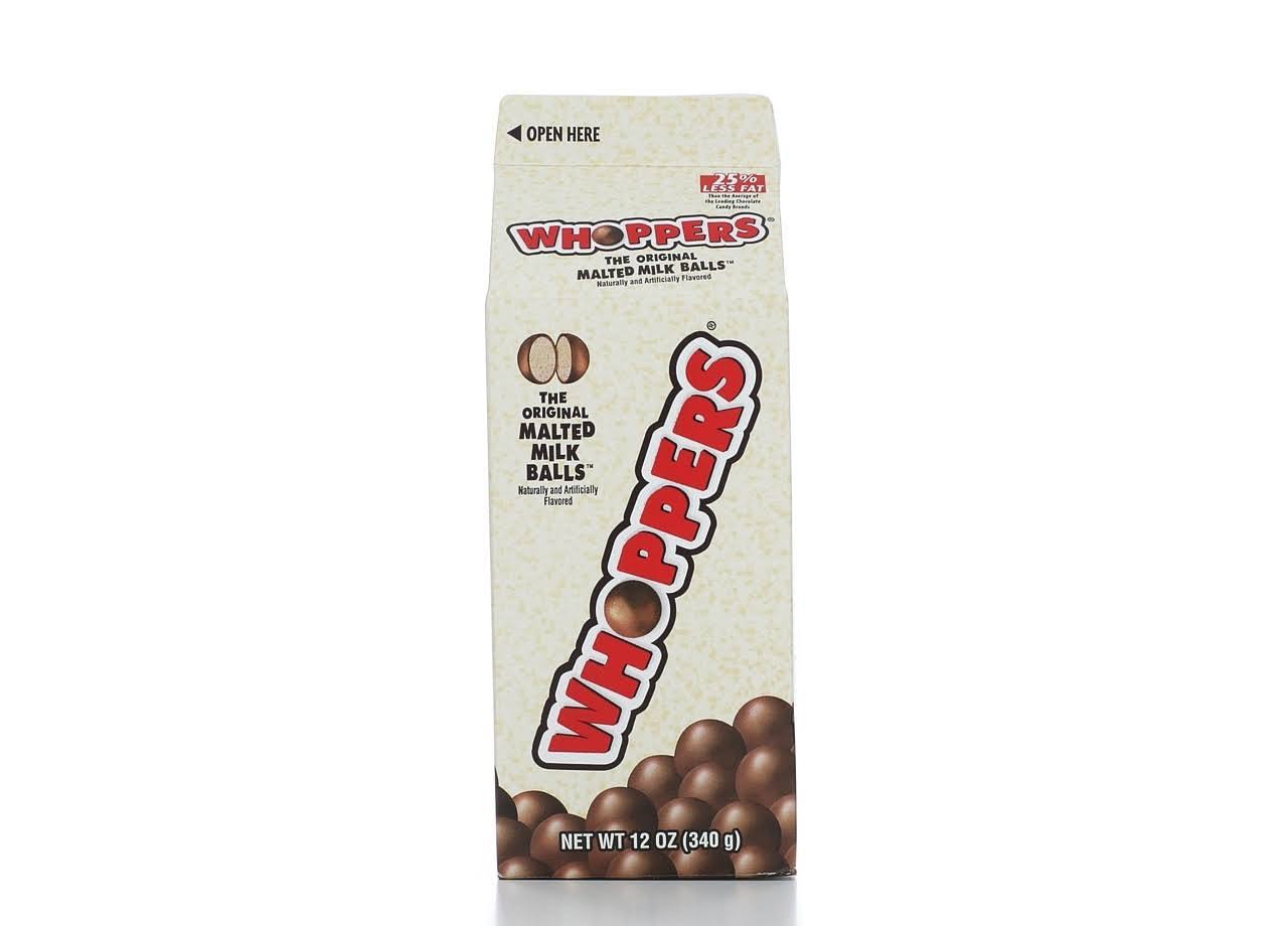 Hershey's Whoppers Original Candy Balls - Malted Milk, 12oz