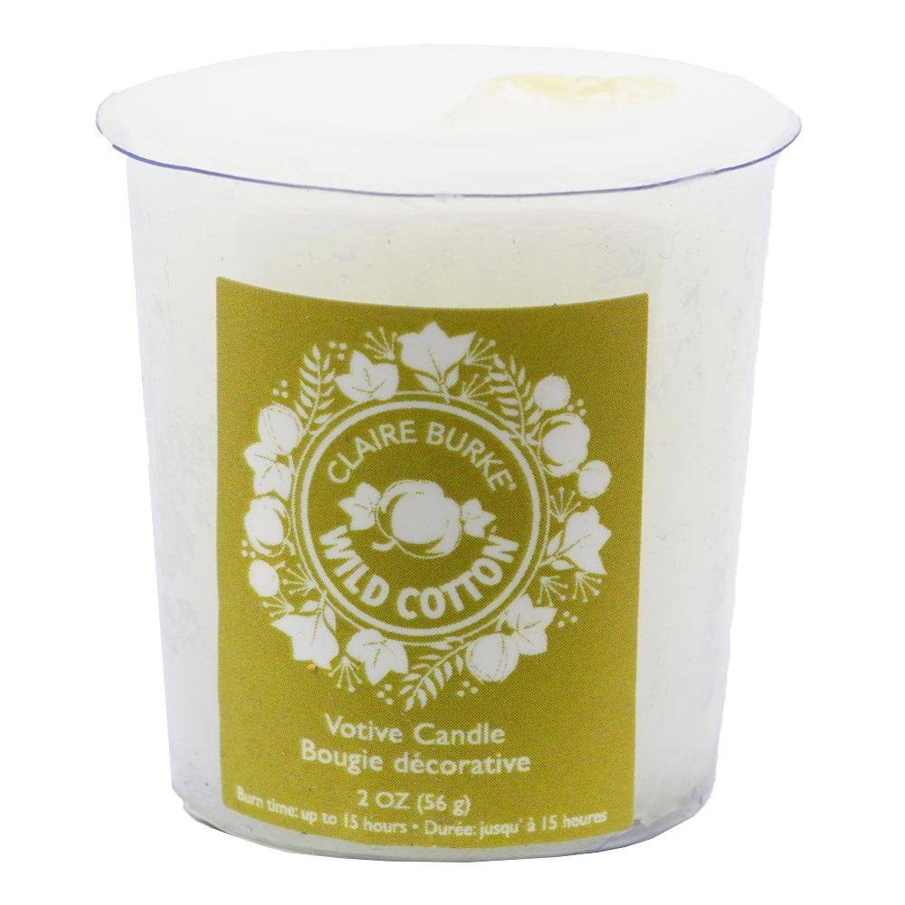 Claire Burke Wild Cotton Votive Candle 2 oz