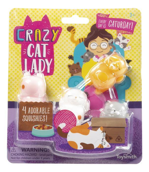 Crazy Cat Lady - Set of 4 Cat Squishies
