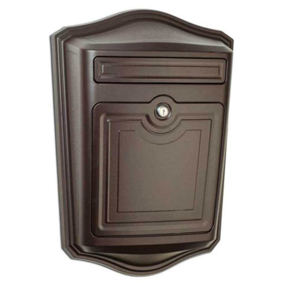 Architectural Mailboxes Maison Locking Rubbed Bronze Wall Mount Mailbox