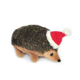 ZippyPaws Holiday Hedgehog Squeaky Plush Dog Toy - Large
