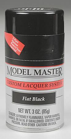 Testors Flat Black 3oz Spray Paint 28134