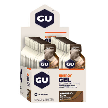 Gu Energy Gel, Espresso Love - 24 pack
