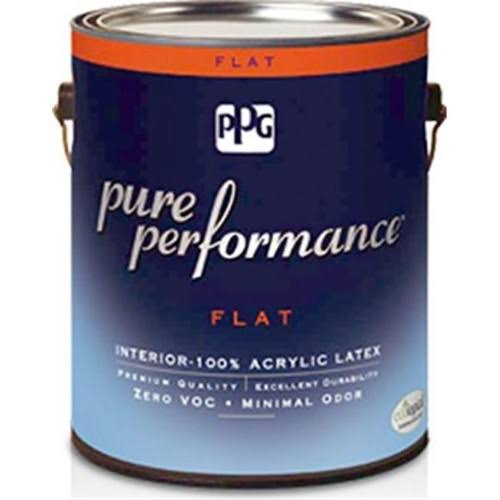 Pittsburgh Paints 9-110XI-01 1 Gal Pure Performance Acrylic Latex Paint, Flat Finish - Pack of 4