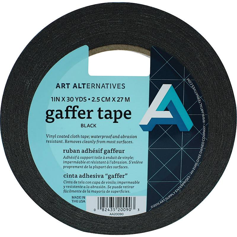 "Art Alternatives Gaffer Tape - Vinyl Black, 1"" x 30 yards"