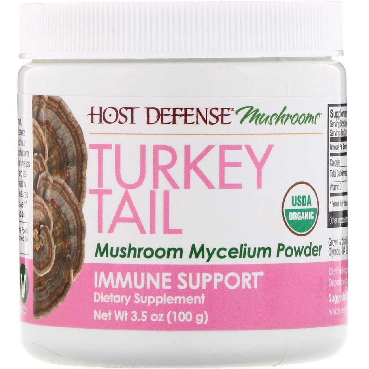 Host Defense Turkey Tail Mushroom Mycelium Powder 3.5oz
