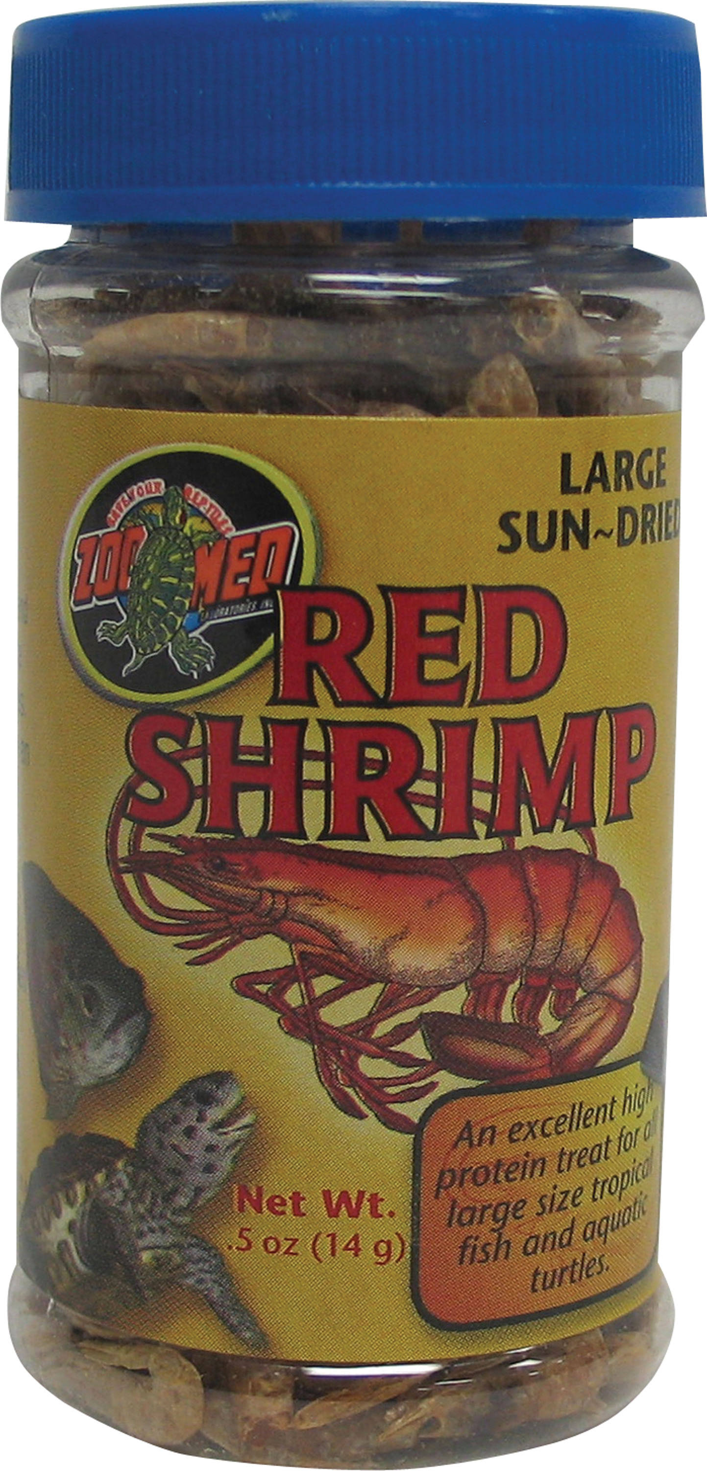 Zoo Med Red Dried Shrimp Food - Large, 14g