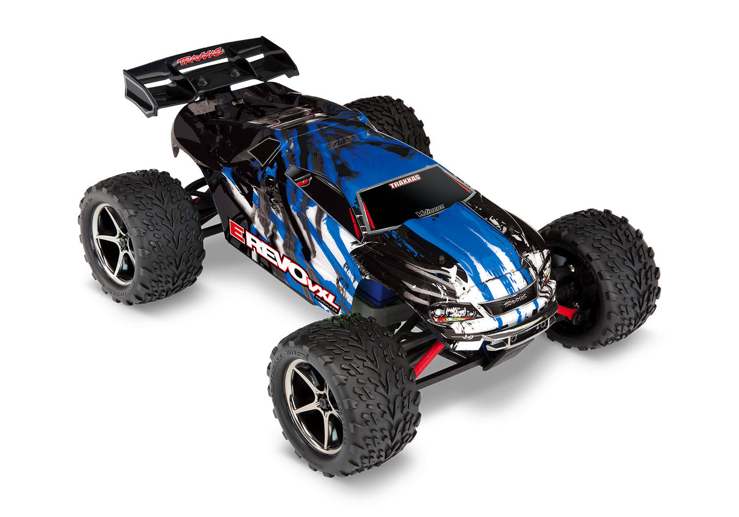 Traxxas 71076-3 E-revo VXL 4WD Monster Truck RTR RC Model Kit - 1:16 Scale