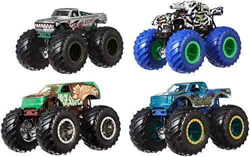 Hot Wheels 4 Pack Monster Trucks - Multi