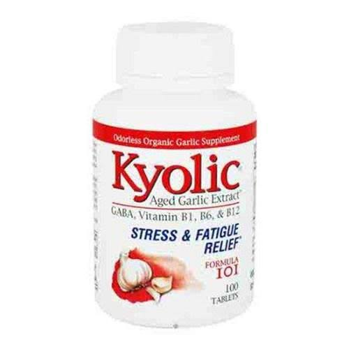 Kyolic Formula 101 Aged Garlic Extract Stress and Fatigue Supplement - 100 Tablets