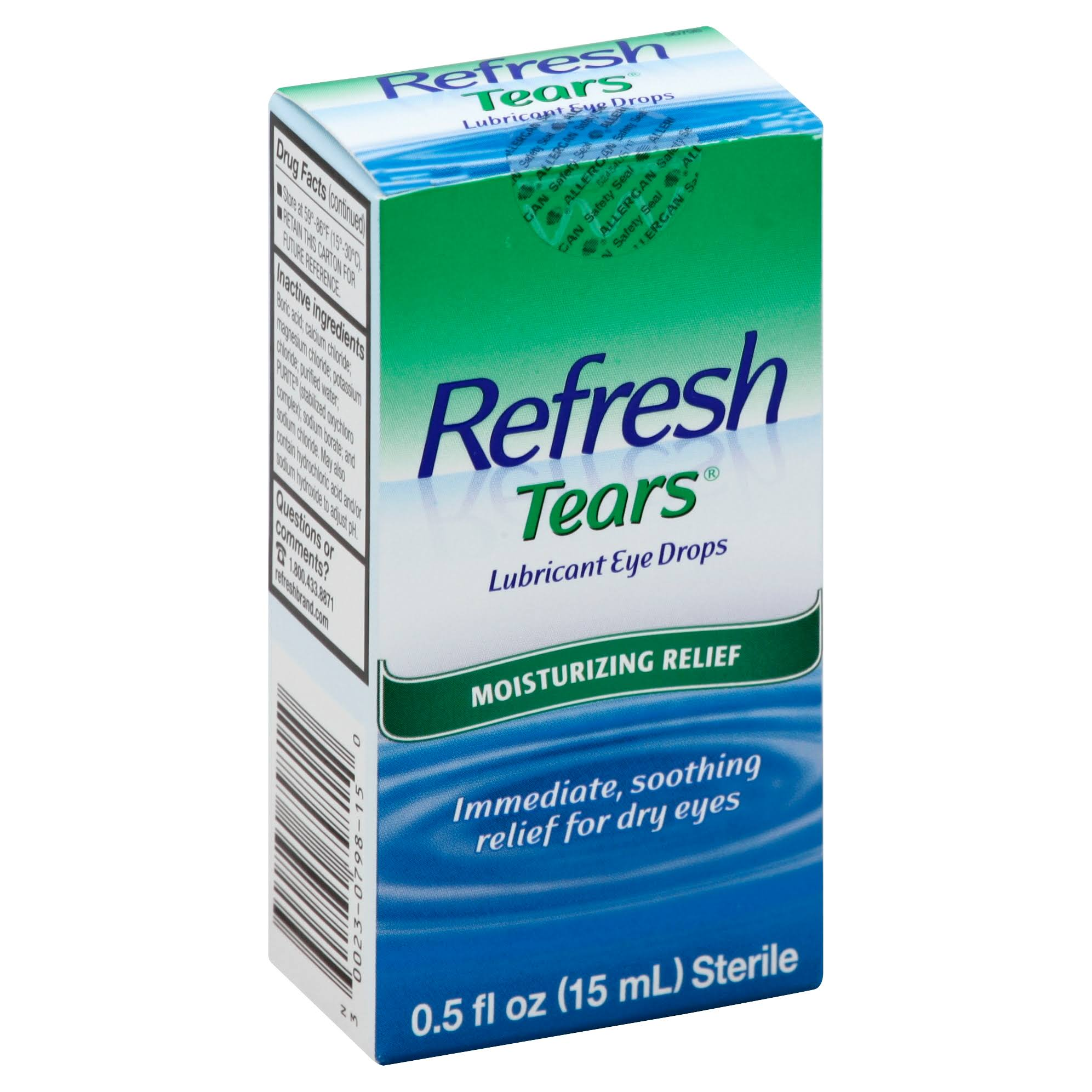 Refresh Tears Sterile Lubricant Eye Drops - 0.5oz