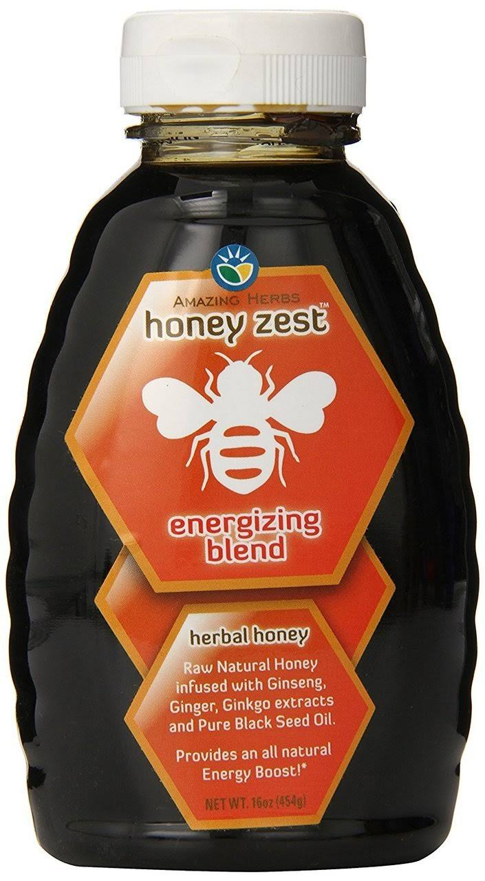 Amazing Herb Honeyzest Energizing Honey - 16oz