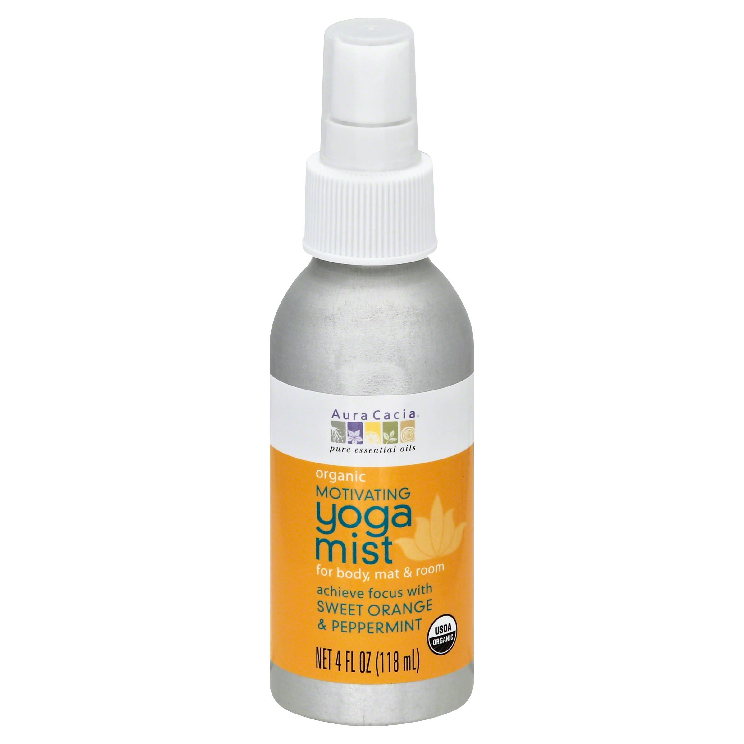 Aura Cacia Yoga Room Body and Mat Mist - Sweet Orange and Peppermint, 4oz