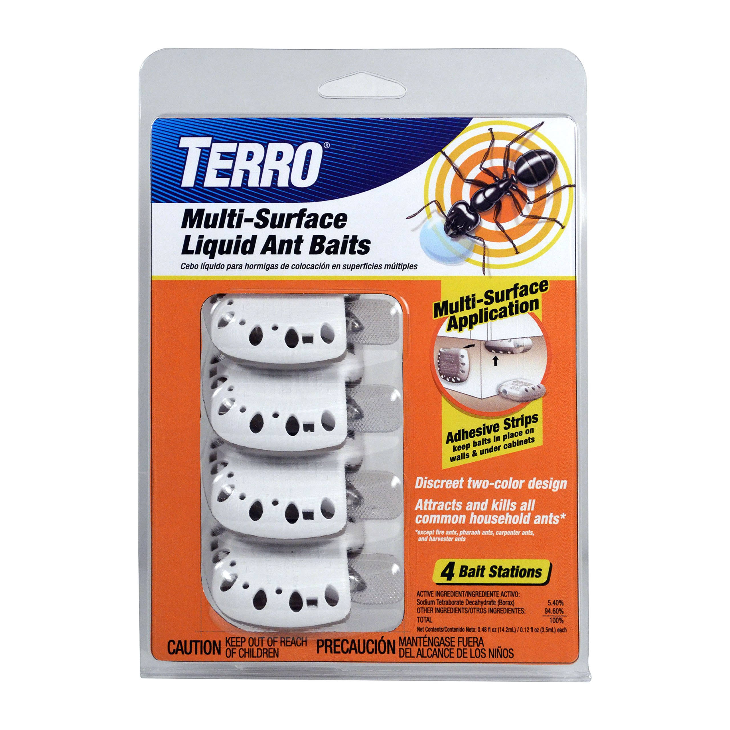 Terro Multi-Surface Liquid Ant Baits - 4 Bait Stations