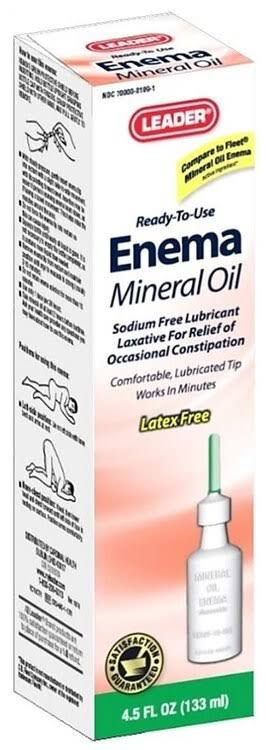 Leader Ready-to-use Enema Mineral Oil - 4.5oz