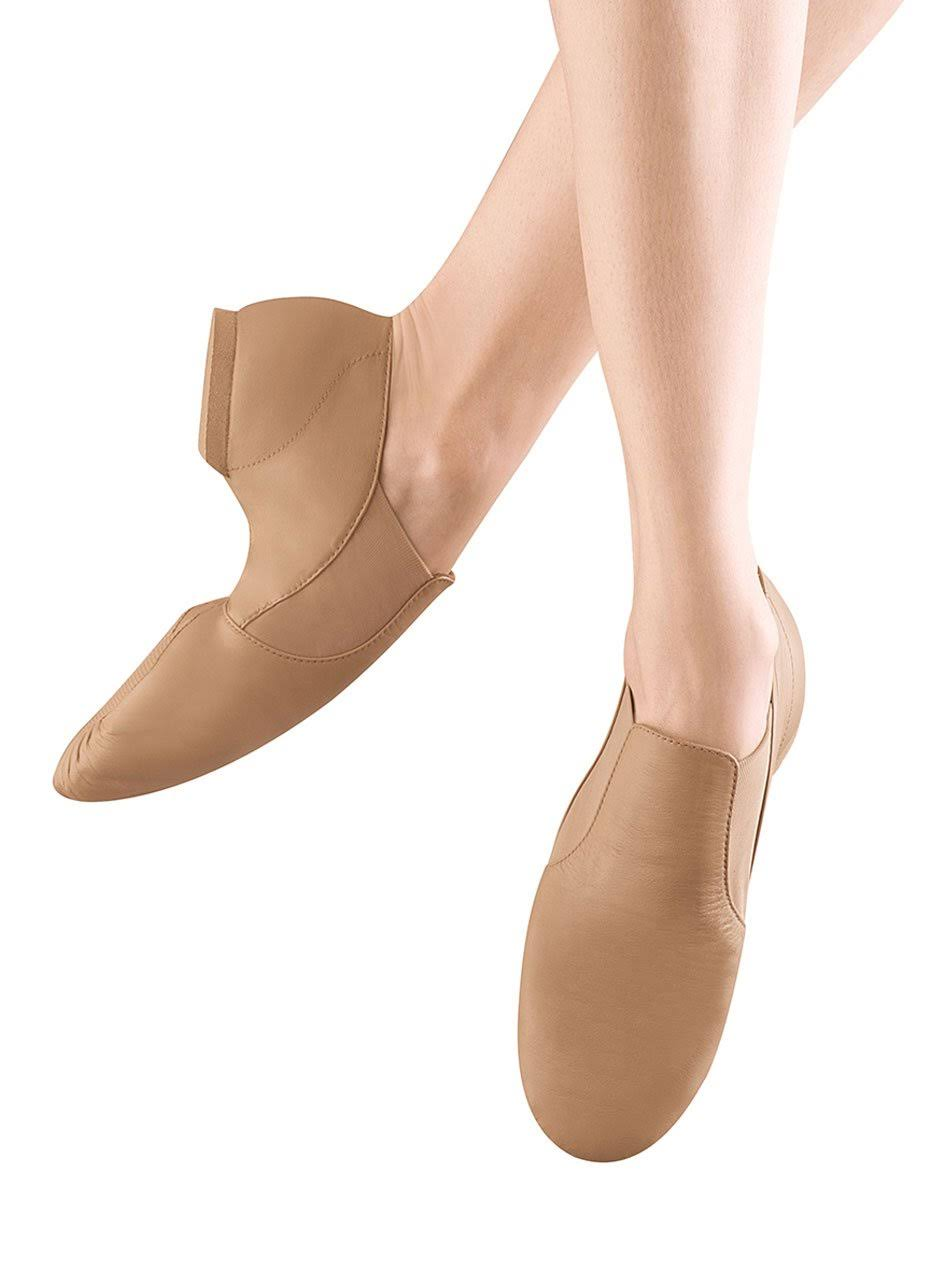 Bloch Womens Elasta Bootie Dance Shoes - Tan, 7 US, Medium