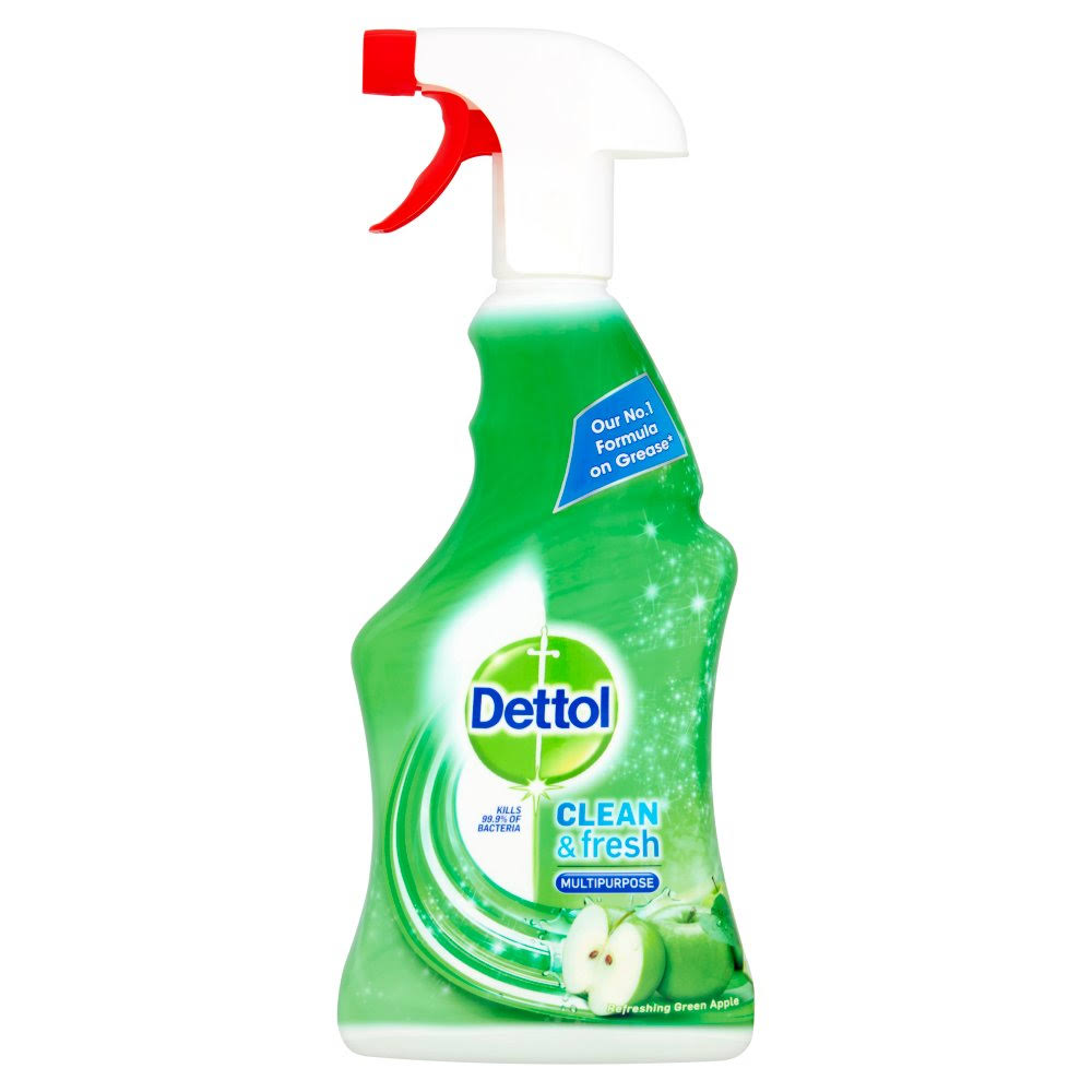 Dettol Power and Fresh Cleaner Spray - Refreshing Green Apple, 500ml