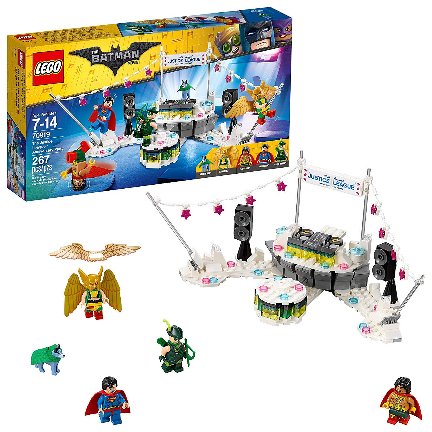 LEGO 70919 Batman Movie The Justice League Anniversary Party Building Kit - 267pcs