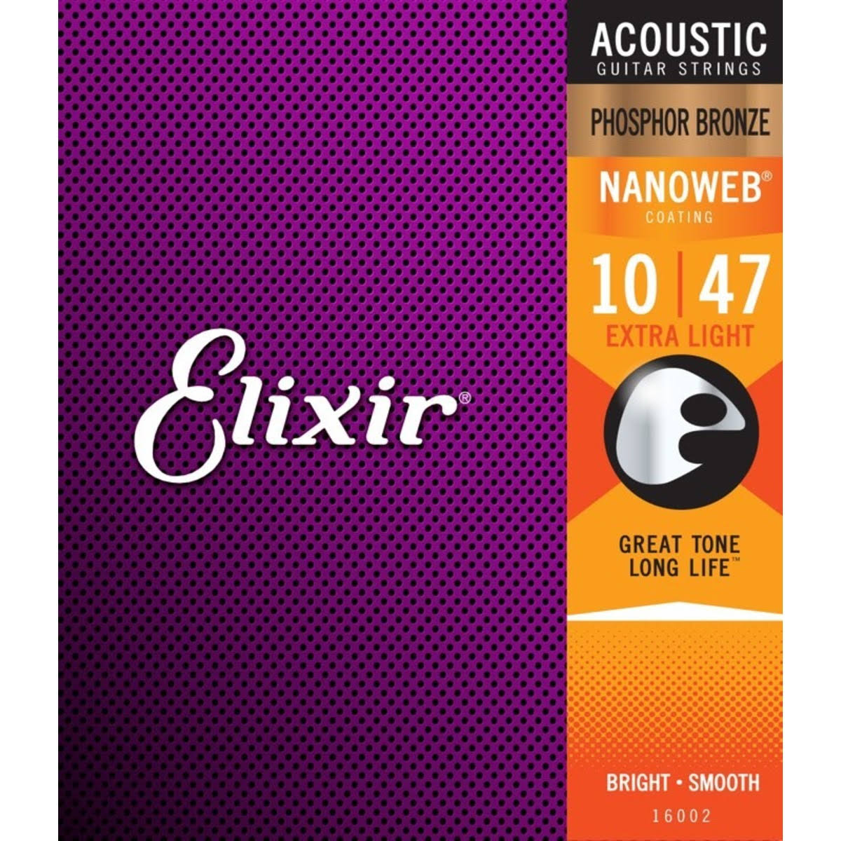 Elixir Nanoweb Acoustic Guitar Strings - Extra Light