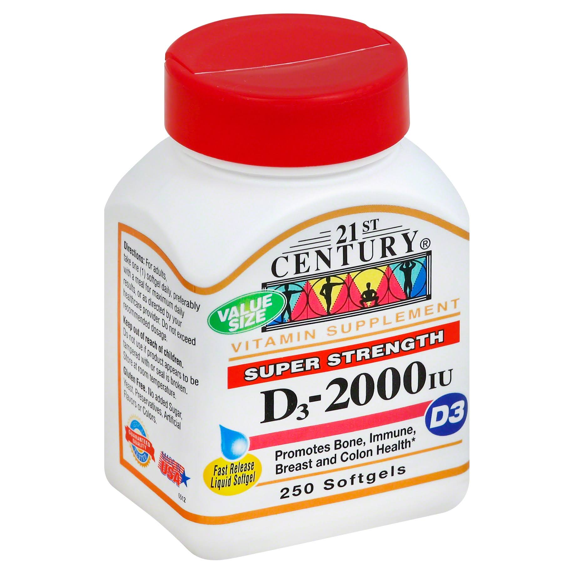 21st Century Vitamin D3 Liquid Softgels Supplement - 250ct