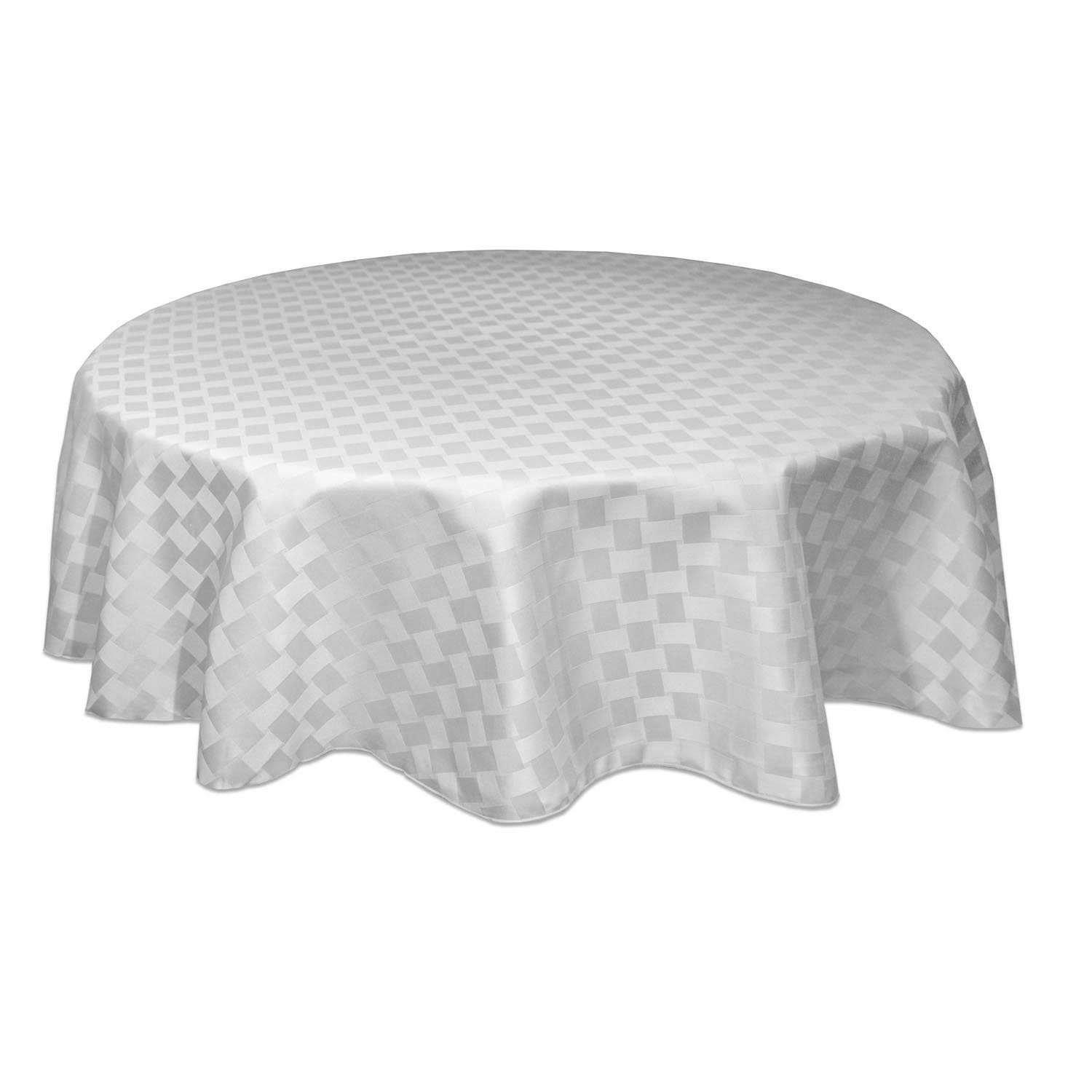 "Bardwil Reflections Spill Proof Oval Tablecloth - White, 60"" X 84"""
