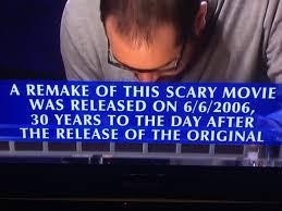 Syfy 31 Days Of Halloween 2017 Schedule by Last Night U0027s U201cfinal Jeopardy U201d Question A Breeze For Horror Fans