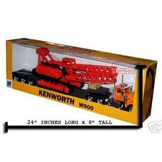 New Ray Toys Kenworth W900 Big Rig Toy - Scale 1:32, with Crane