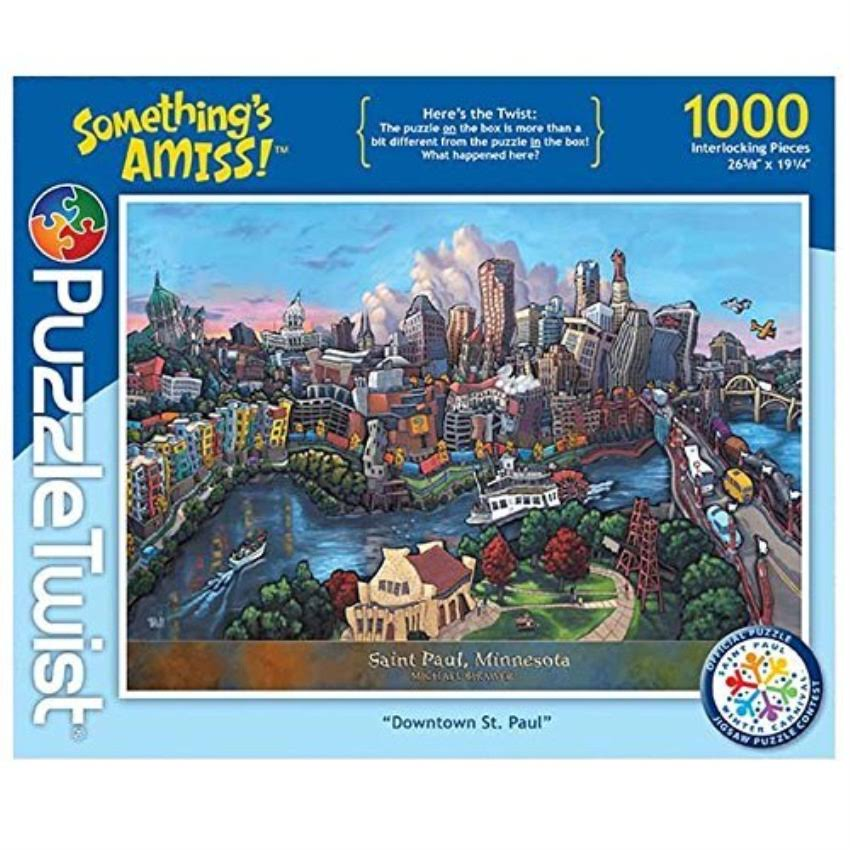 PuzzleTwist Somethings Amiss! Downtown St Paul Jigsaw Puzzle - 1000pcs