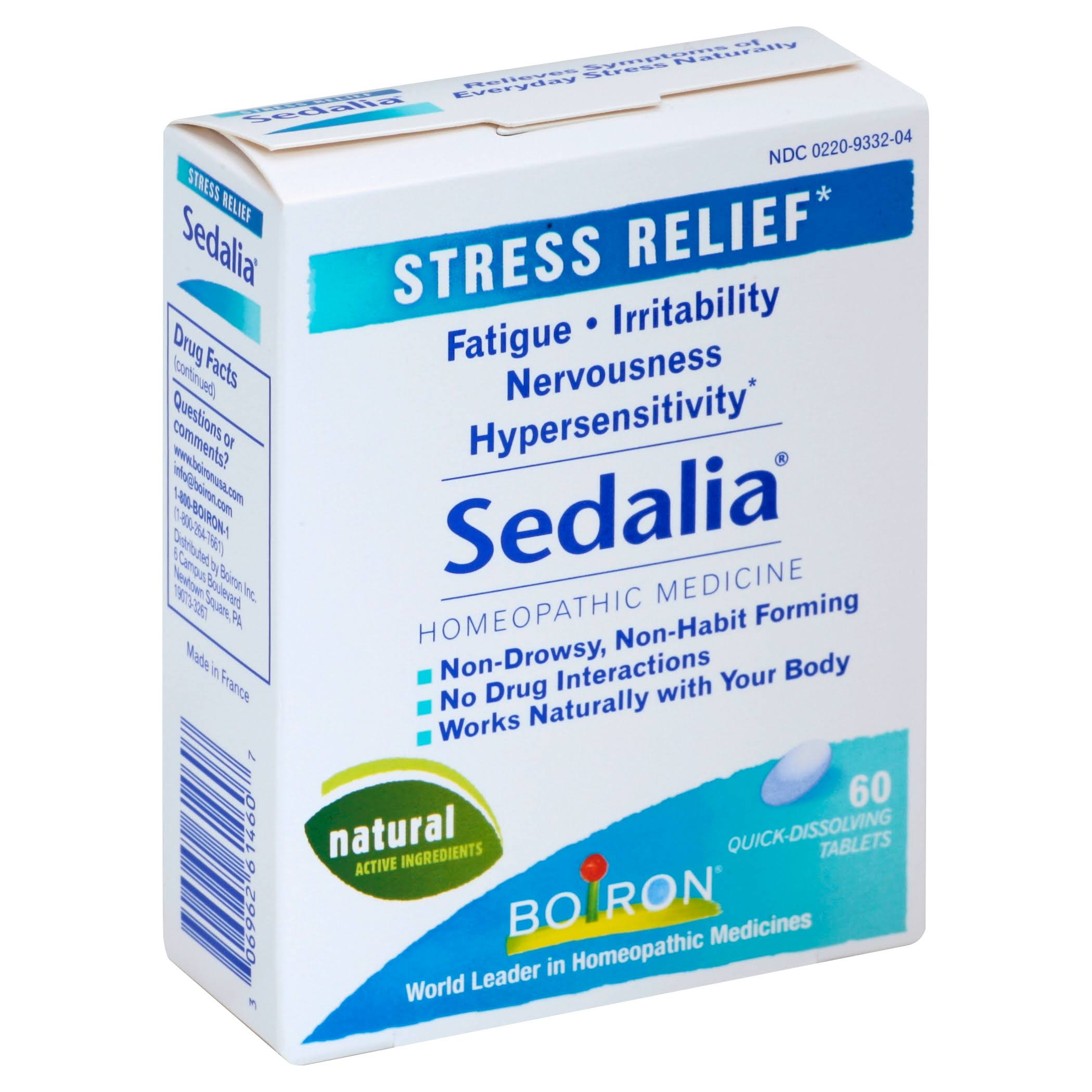 Boiron Sedalia Homeopathic Medicine - Stress Relief, 60 Tablets
