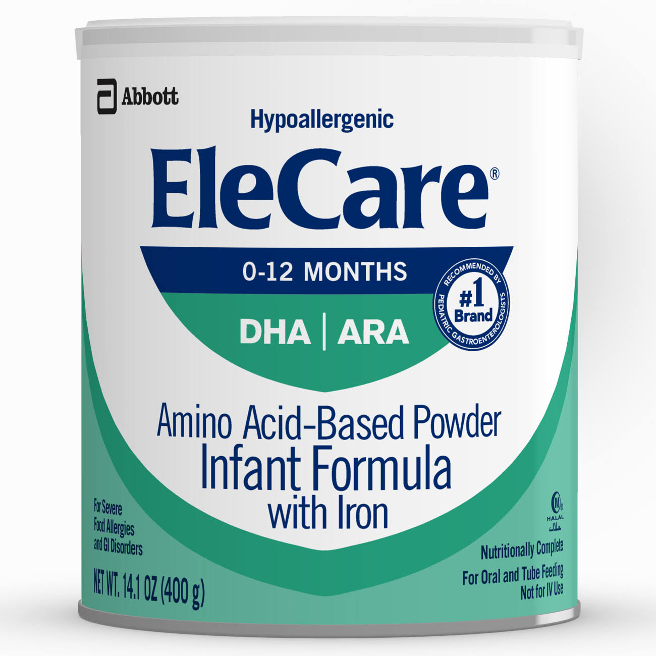 Abbott EleCare Amino Acid Based Powder Infant Formula with Iron for Infants - 14.1 oz