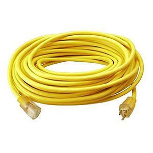 Coleman Cable Vinyl Outdoor Extension Cord with Lighted End - 100'