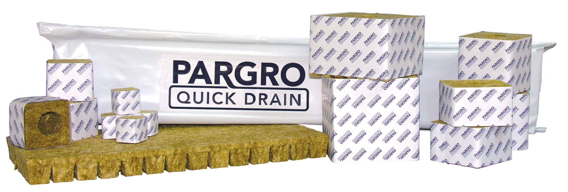 "GRODAN Pargro Quick Drain Stonewool Block With Hole - 4"" x 4"", 12units"
