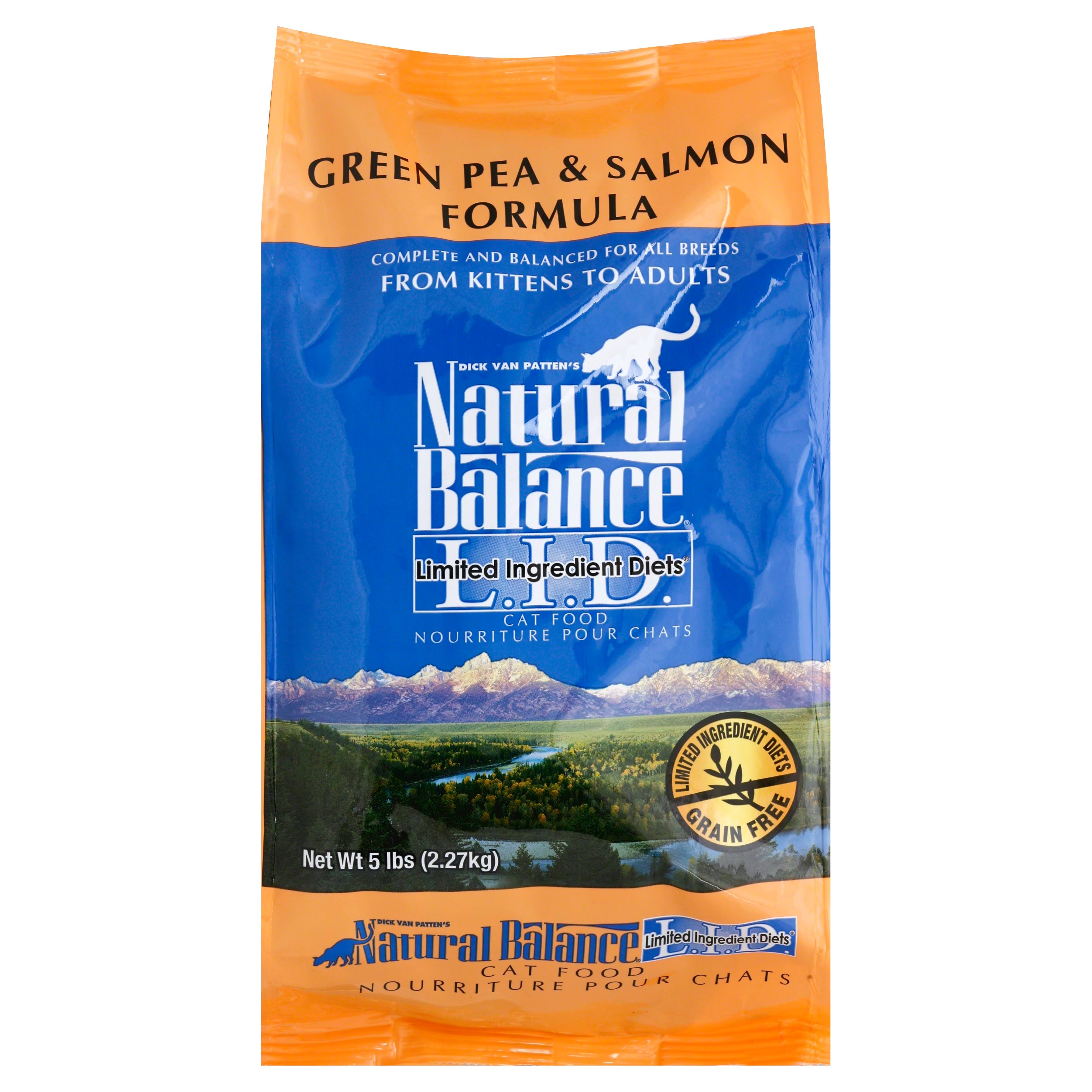 Natural Balance Cat Food - Green Pea and Salmon Formula, 5lb
