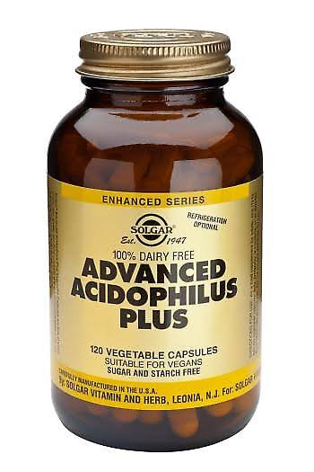 Solgar Advanced Acidophilus Plus Dietary Supplement - 120 Capsules