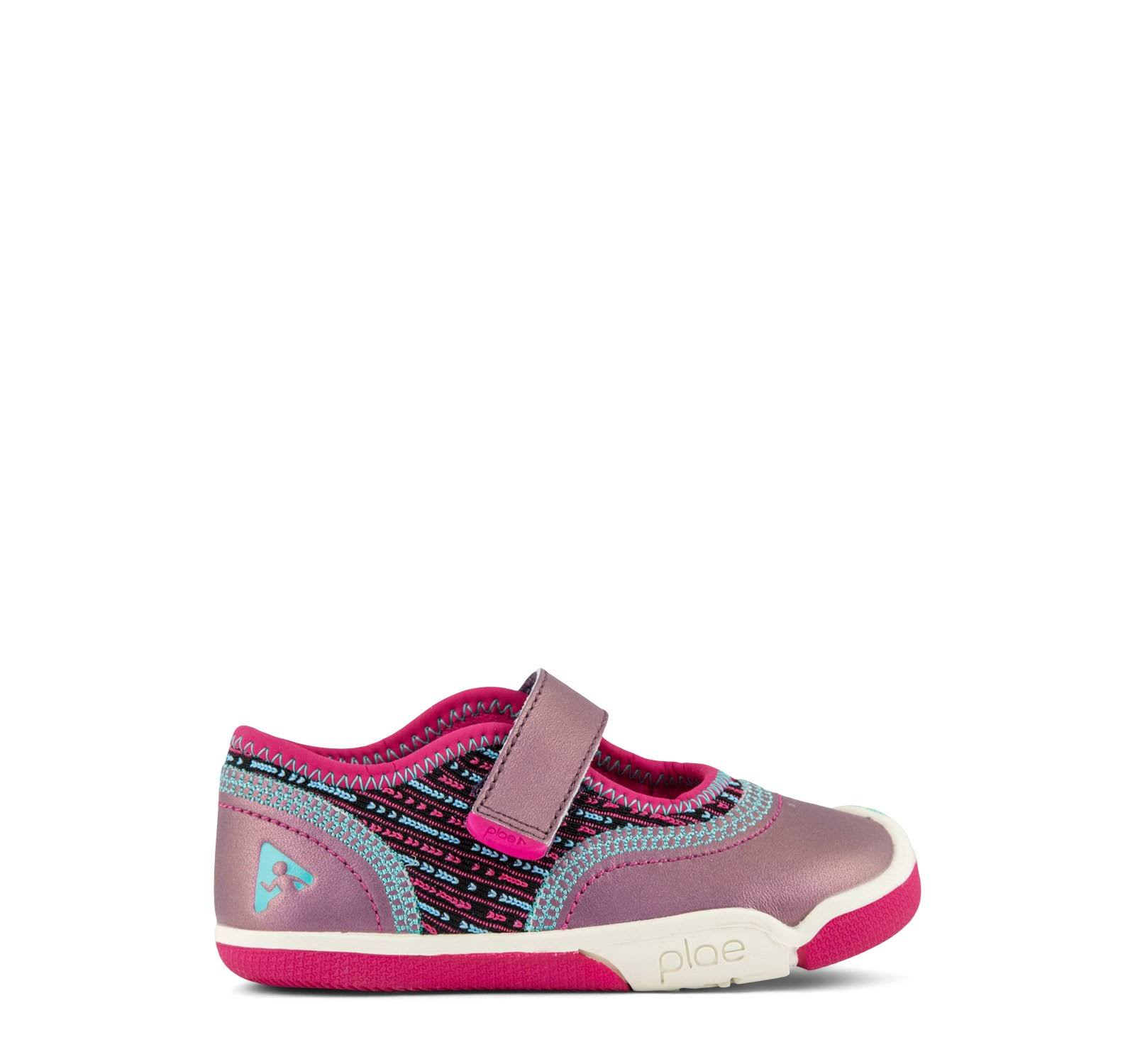 Plae Girl's Emme Mary Jane Shoes - Pink, Size 13