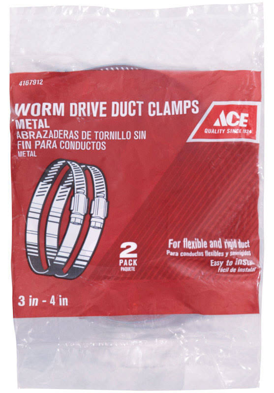Ace ACEMCX4 3 in. to 4 in. Metal Worm Drive Clamp