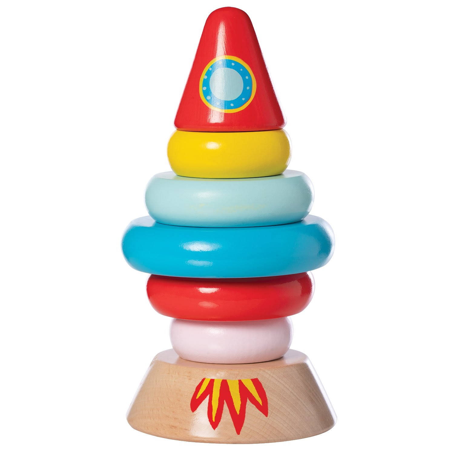 Manhattan Toy - Magnetic Wood Stacker Rocket