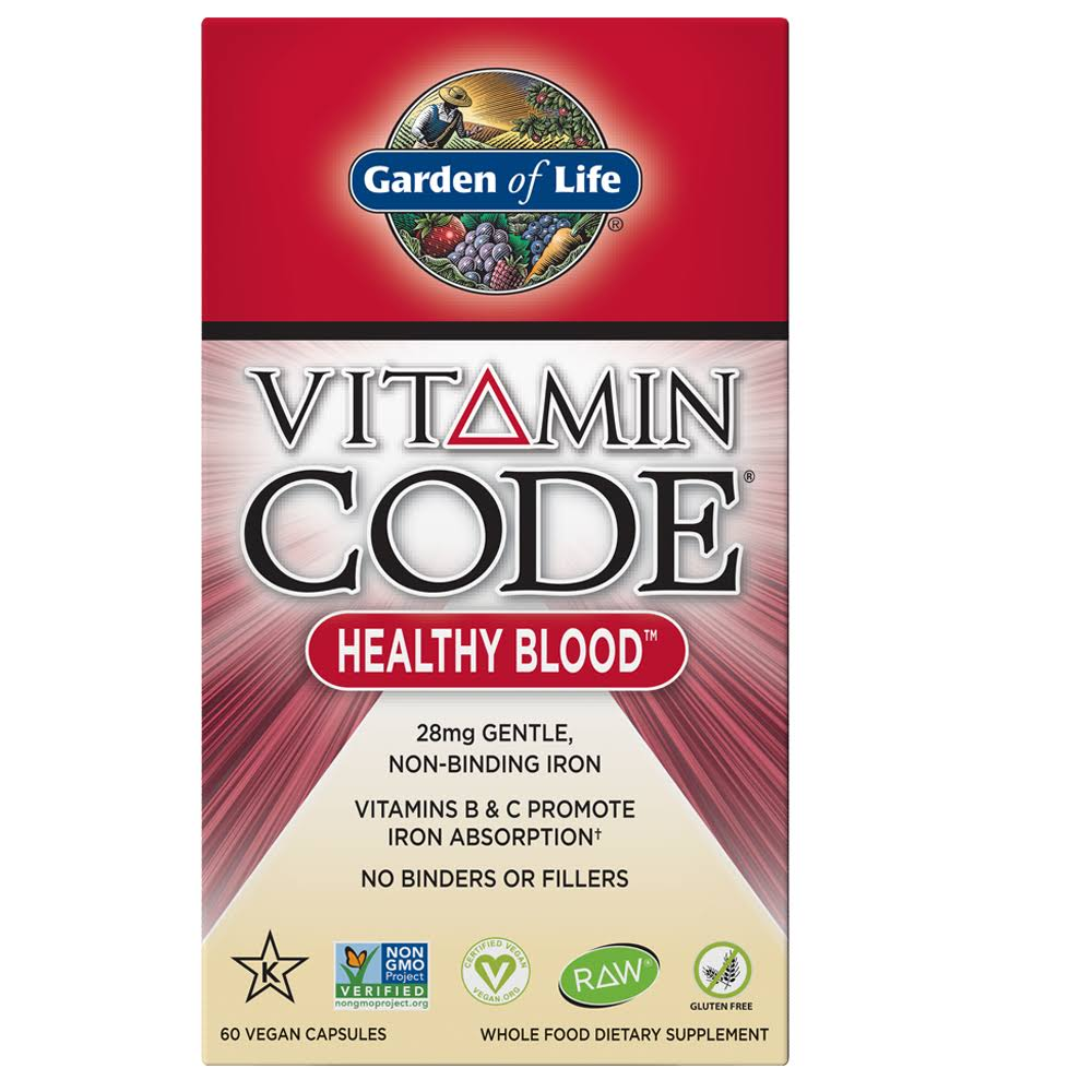 Garden of Life Vitamin Code Healthy Blood - 60 Vegan Capsules