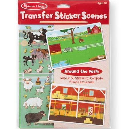 Melissa & Doug Transfer Sticker Scenes Set - Around The Farm