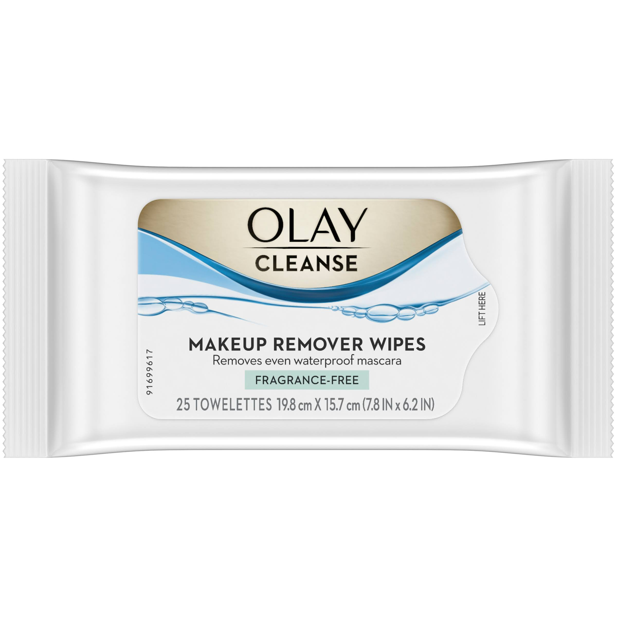 Olay Make-Up Remover Wet Cloths - 25 Towelettes