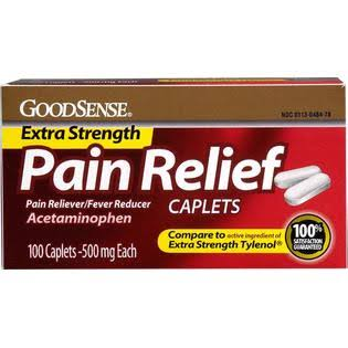 Good Sense Acetaminophen Extra Strength Pain Reliever and Fever Reducer Caplets - 500mg, 100ct