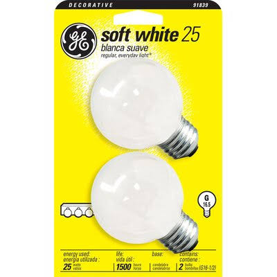 GE Lighting 25-Watt 180-Lumen Candelabra Base Light Bulb - Soft White