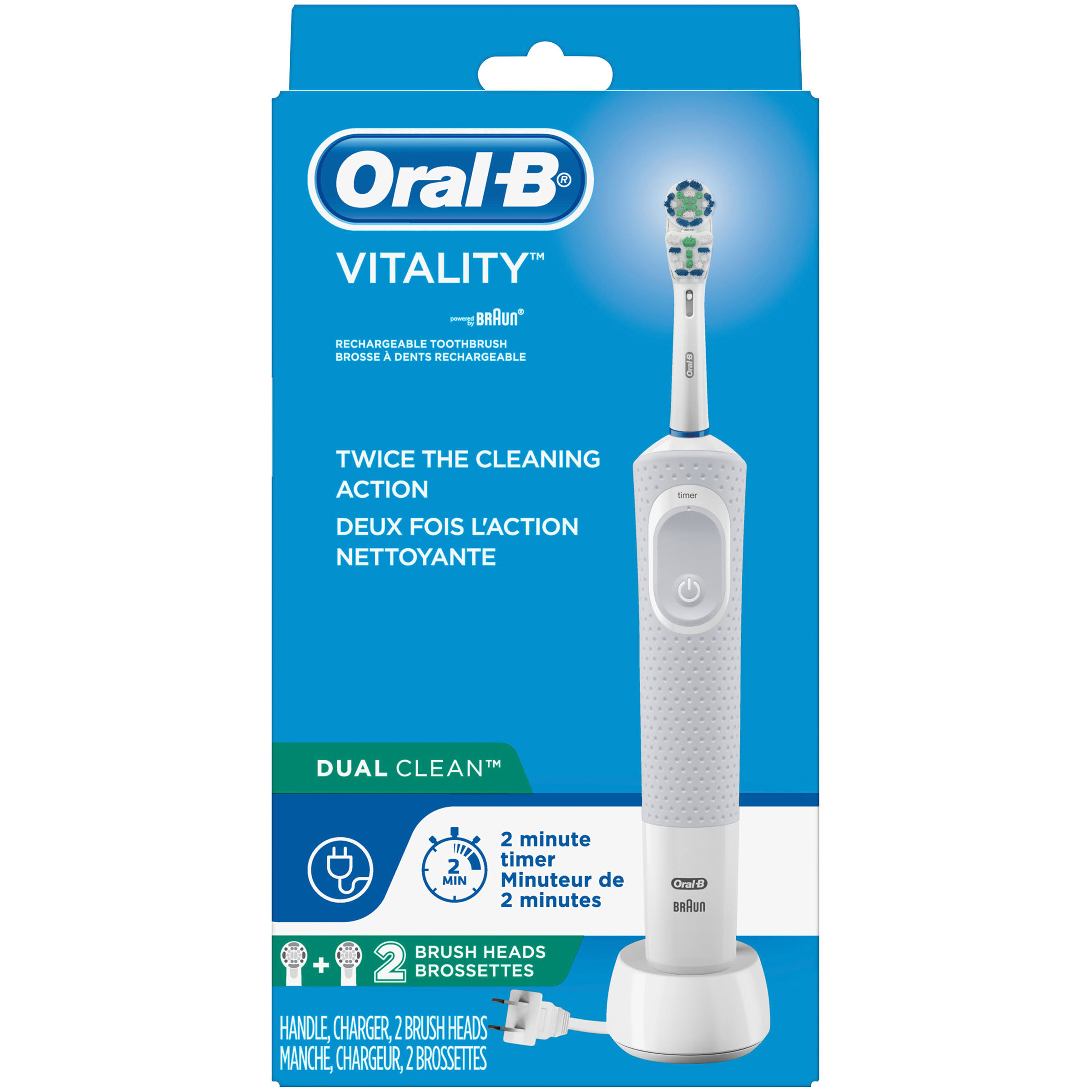 Oral B Vitality Dual Clean Electric Rechargeable Toothbrush