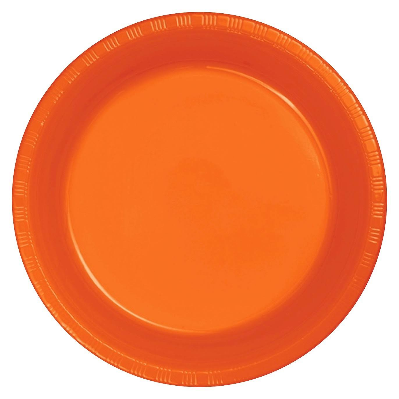 Creative Converting Touch of Color Plastic Lunch Plates - Sunkissed Orange, 20ct