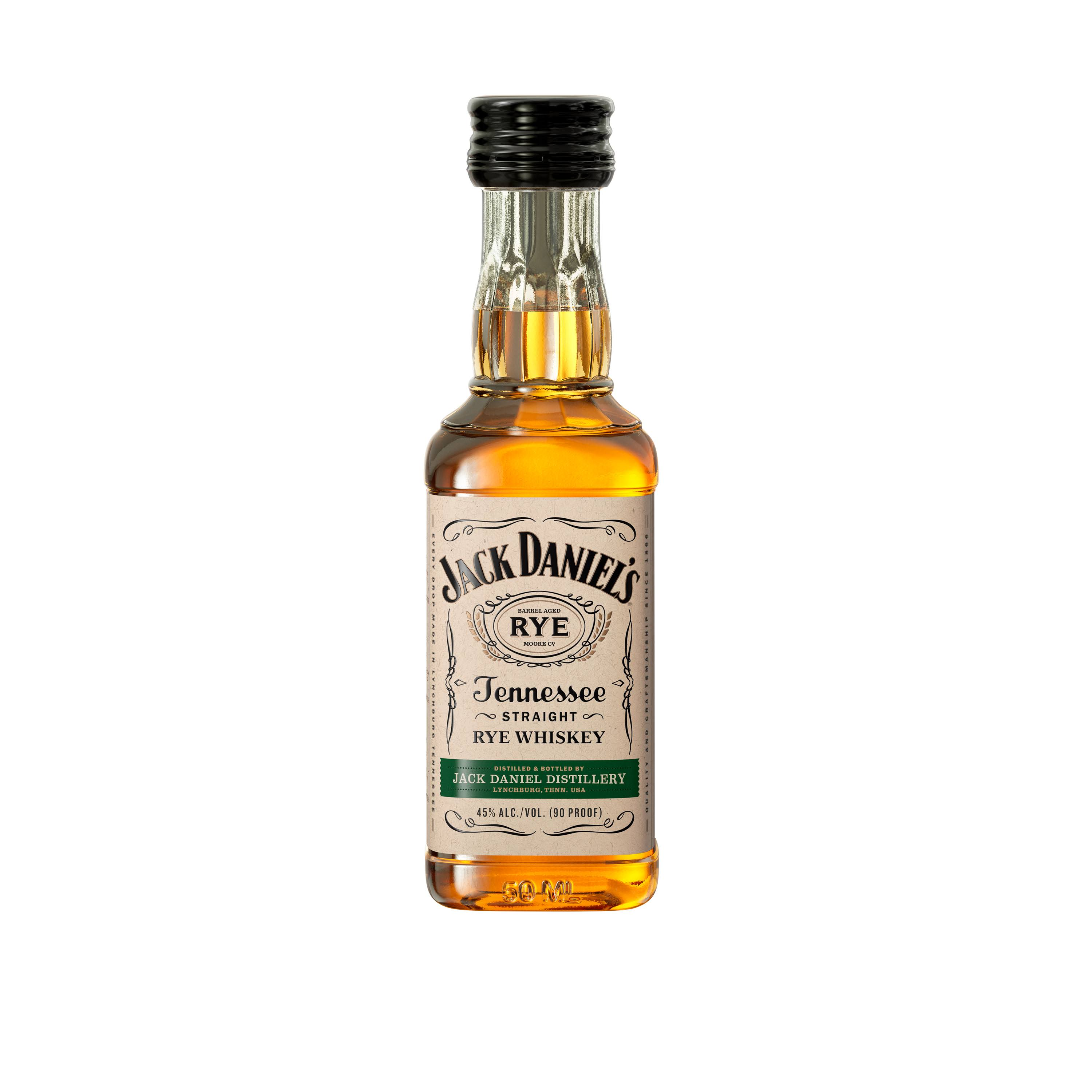 Jack Daniels Tennessee Rye Whiskey, Tennessee Rye Whiskey - 12 pack, 50 ml bottles